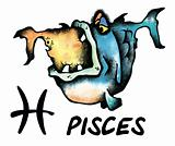 cartoon pisces illustration