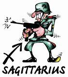 Sagittarius illustration