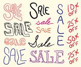 Sale Sign Doodles