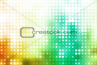 Green and White Glowing Futuristic Light Background