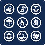 Seasons: Spring 9 icons (set 3, part 2)