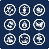 Seasons: Summer 9 icons (set 4, part 1)