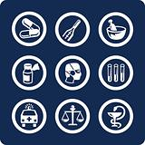 Medicine and Health 9 icons (set 6, part 1)