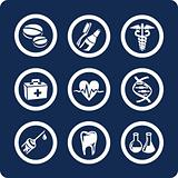 Medicine and Health 9 icons (set 6, part 2)