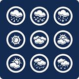 Weather 9 icons (set 7, part 1)