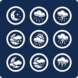 Weather 9 icons (set 7, part 2)