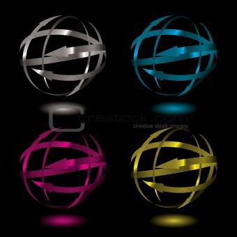 arrow metal ball