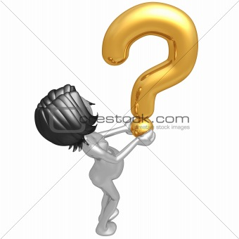 Pregnant Woman Holding A Question