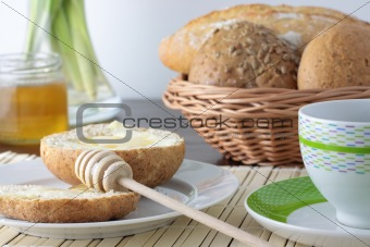 Fresh bread With Honey