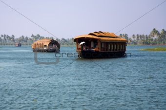 House boats in backwaters