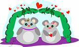 Romantic Mice in Love