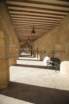 ancient stone corridor