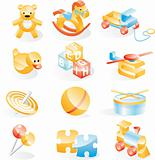 Toys icon set