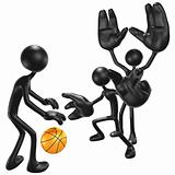 Basketball Big Hand Defense
