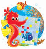 Sea horse and crossword