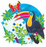 Toucan and crossword