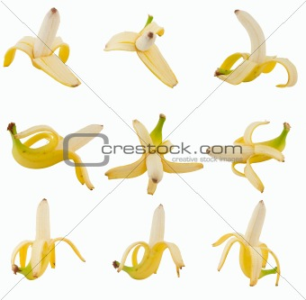 collection of fruits banana