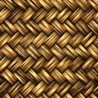 A woven wicker material
