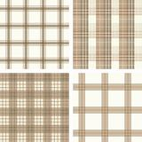 Seamless checked pattern set