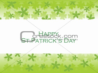 abstract vector shamrock illustration 17 march
