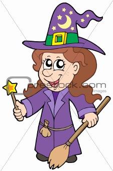 Cute wizard girl