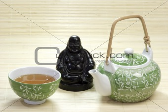 Green Tea and Teapot