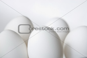 Five Eggs Isolated on White