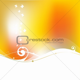 Abstract background wave, summer
