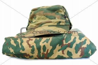 Camouflage uniform complete set.