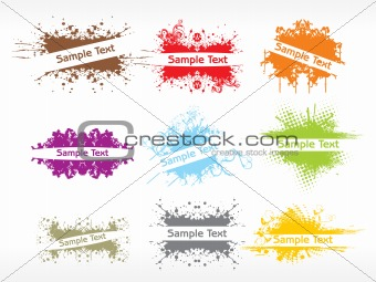 business card with grunge background10