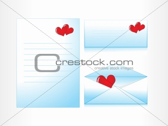 love letter with envelope, illustration