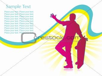 skateboarder silhouette, illustration