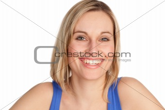 Attractive woman smiling at the camera