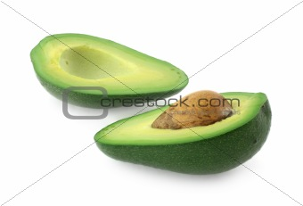 avocado cut in half