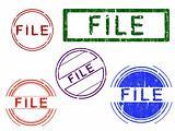 5 Grunge Stamps - FILE