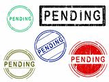 5 Grunge effect Office Stamps - PENDING