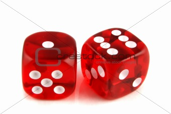 2 dice showing 1 and 6