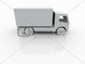 3D white Van