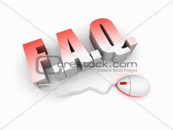 "3D Text ""FAQ"" with mouse"