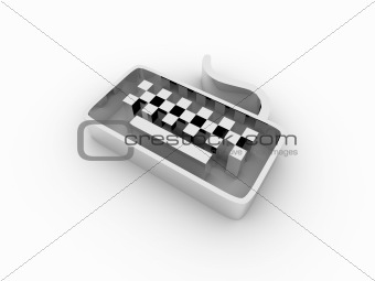 3d keyboard icon