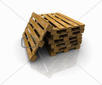 3D group of pallets