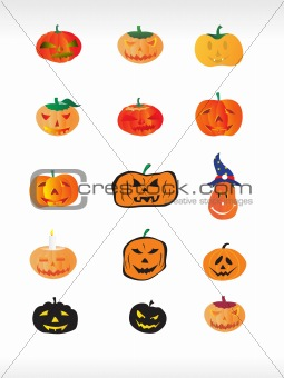 abstract halloween icon series set7