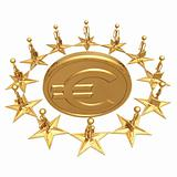 European Union Around Gold Euro Coin