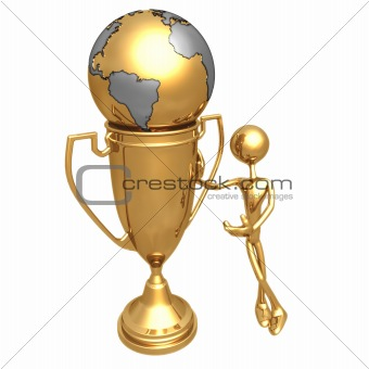 Image 1594634: Golden World In A Trophy Cup from Crestock Stock Photos