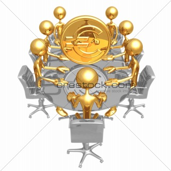 Gold Euro Coin Meeting