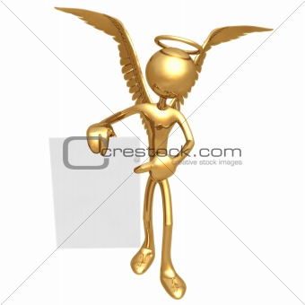 Angel With Sign