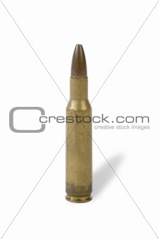 5.56 mm bullet (clipping path included)