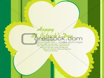 accent shamrock blossom shape card 17 march
