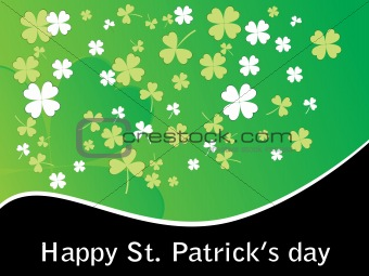 green shamrock blossom background 17 march