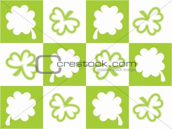 abstract accent clover design vector  17 march